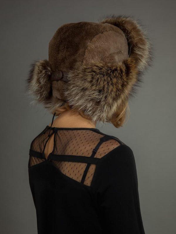 Beaver & racoon russian trapper ushanka fur hat