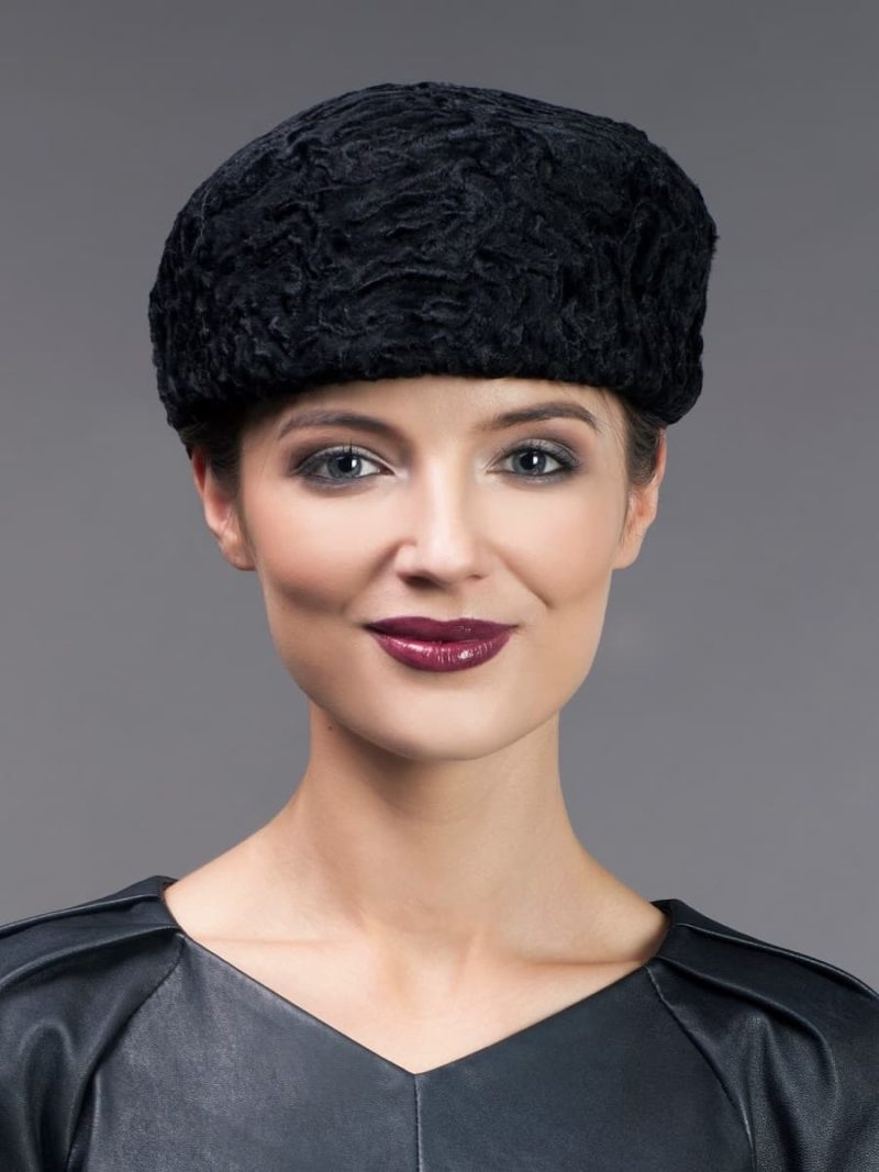 Black karakul fur cap women from NordFur