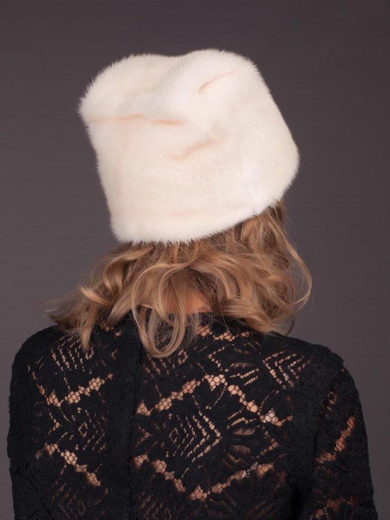 Pearl mink fur hat kitty by NordFur