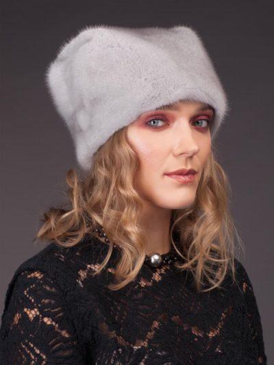 sapphire mink fur hat by NordFur