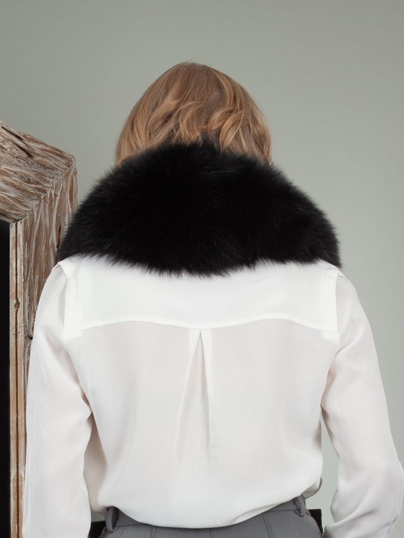 black fox fur small collar
