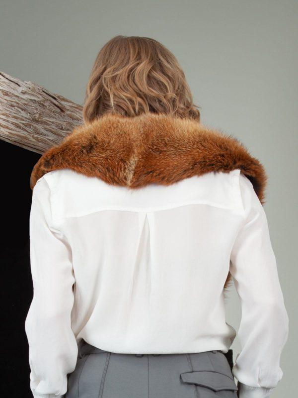 genuine wild red fox fur collar
