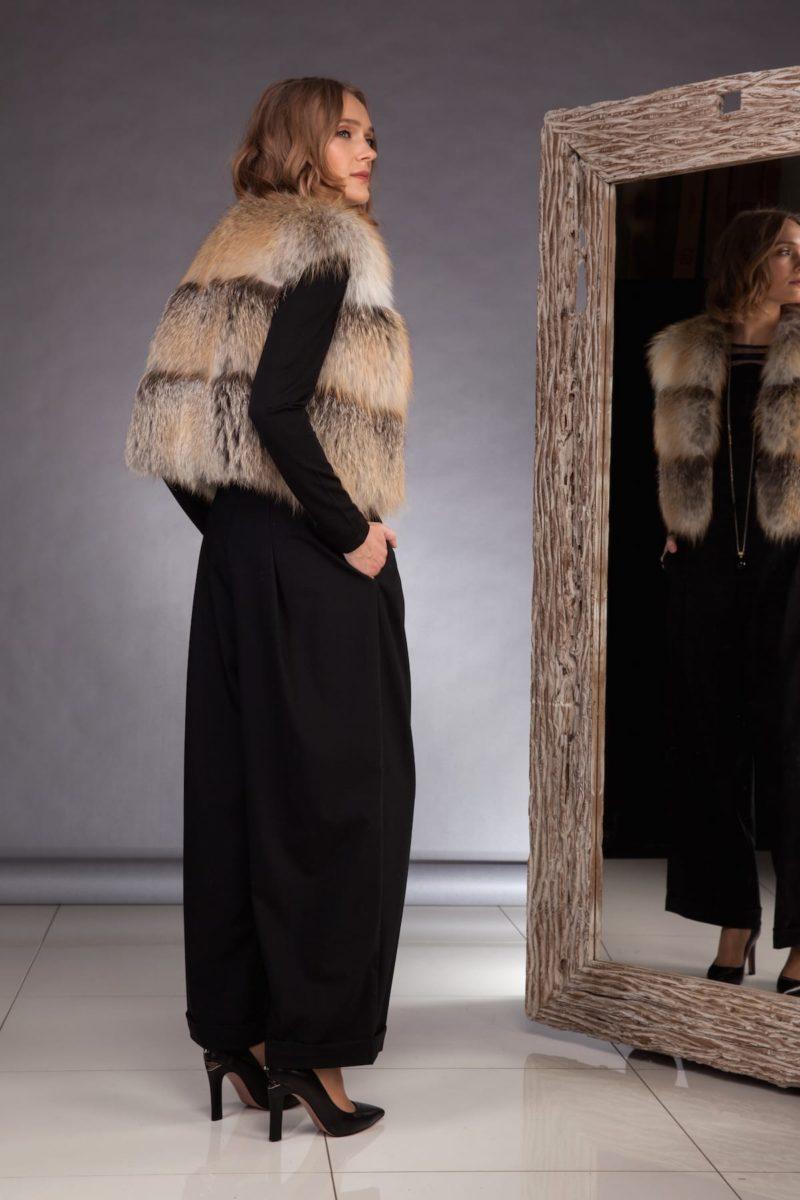 short island fox fur vest gilet for women