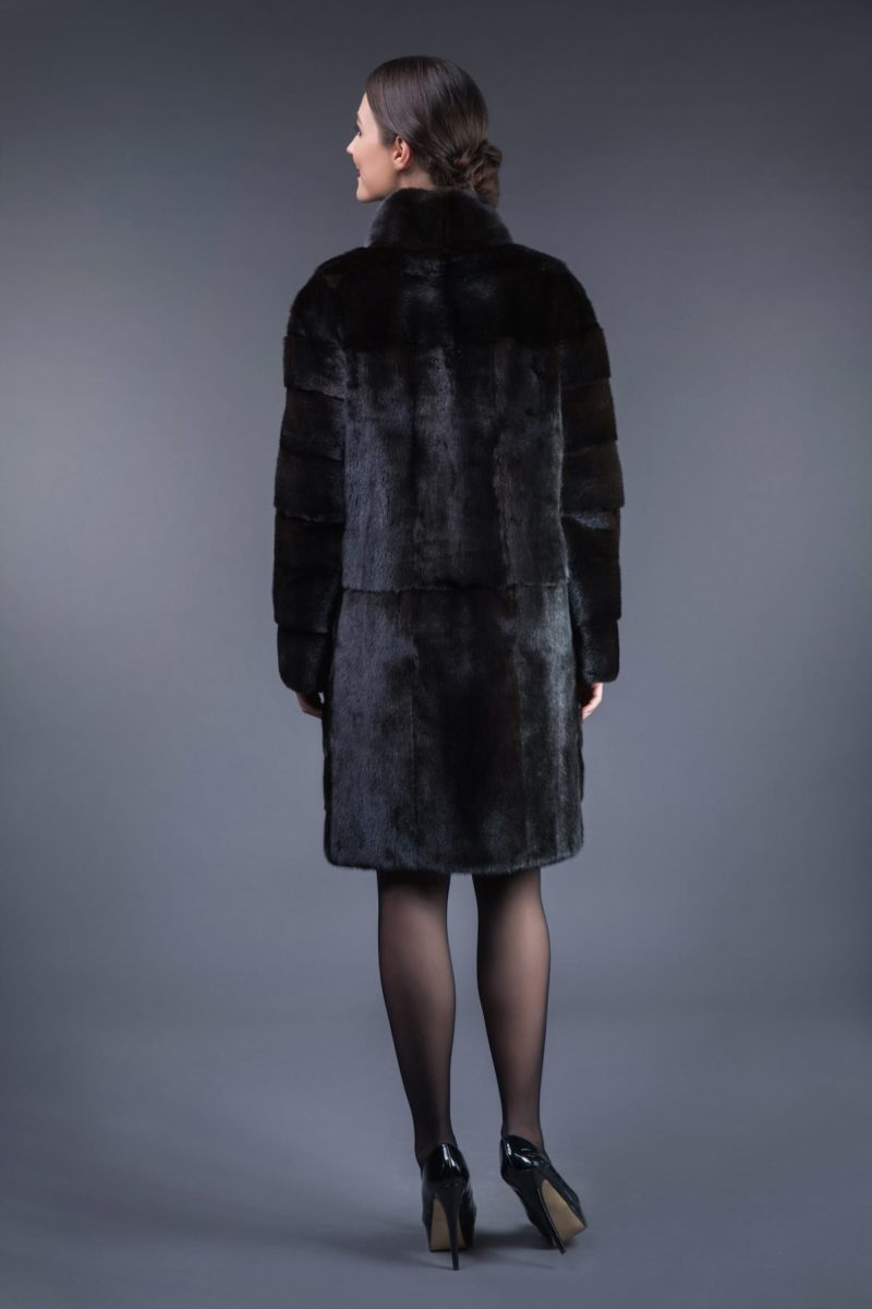 black velvet mink fur coat