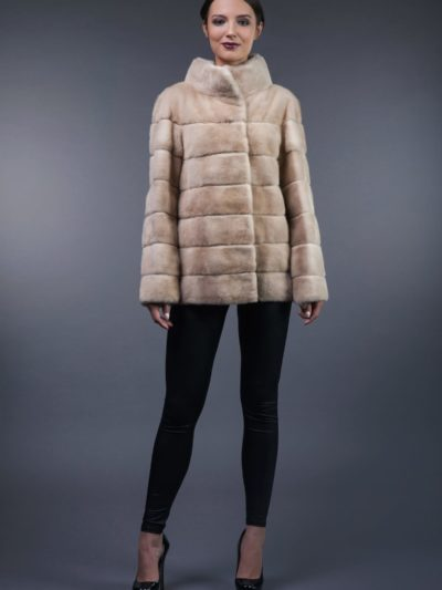 natural pearl mink fur jacket