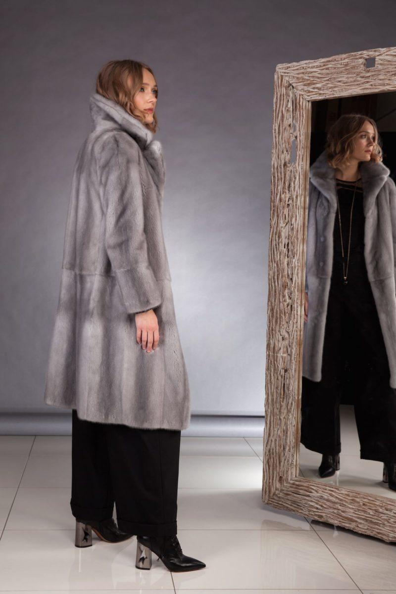 natural sapphire mink fur coat
