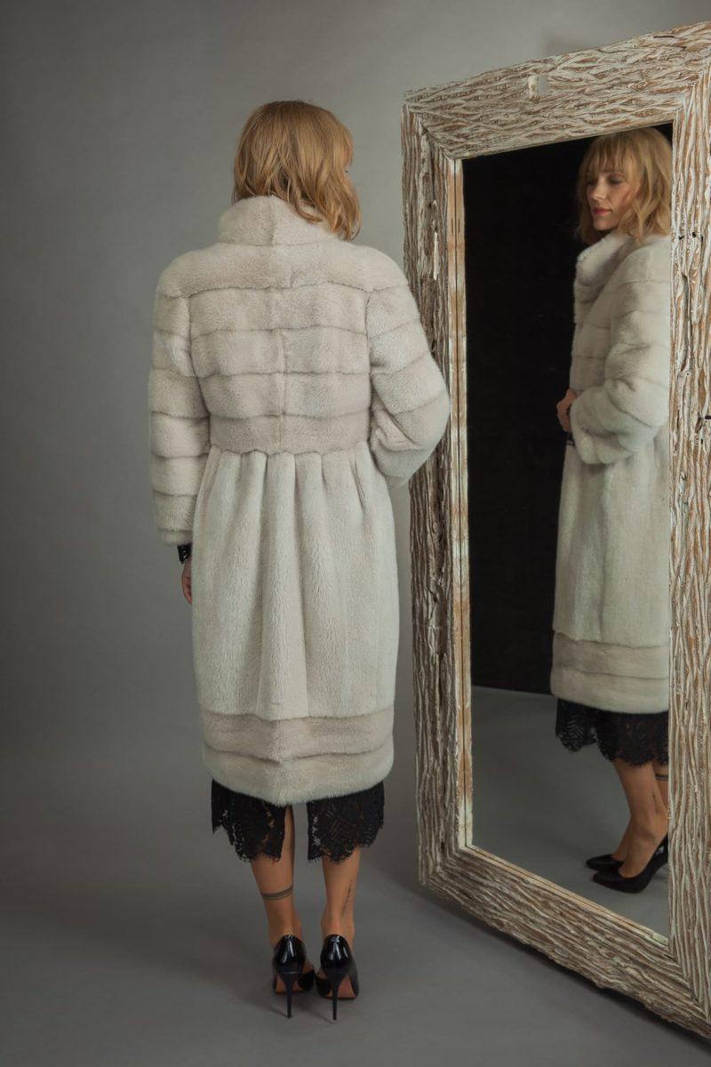 pearl mink fur coat