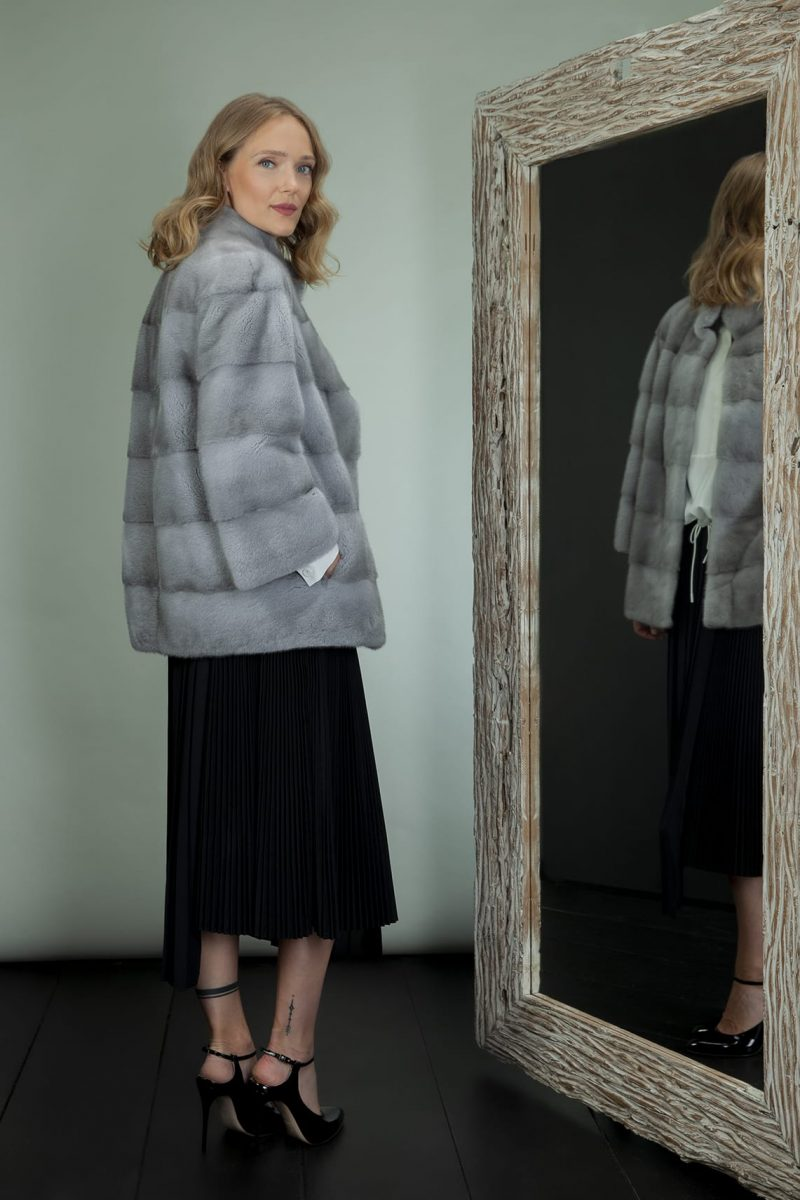 sapphire mink fur jacket