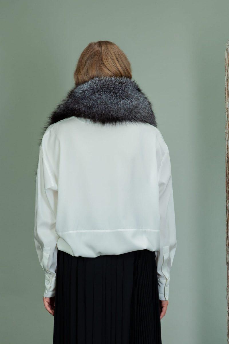 silver frost fox fur collar